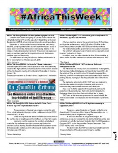 thumbnail of [Volume 1 No1] African news highlights in brief1