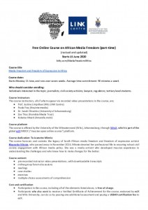 thumbnail of 2020 Course Information Sheet – Media Freedom and Freedom of Expression in Africa